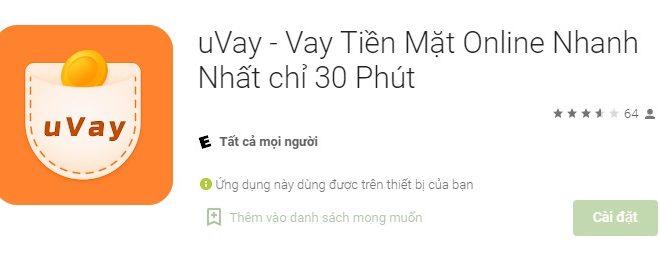 Uvay Vay tiền trực tuyến chỉ mất 30 phút